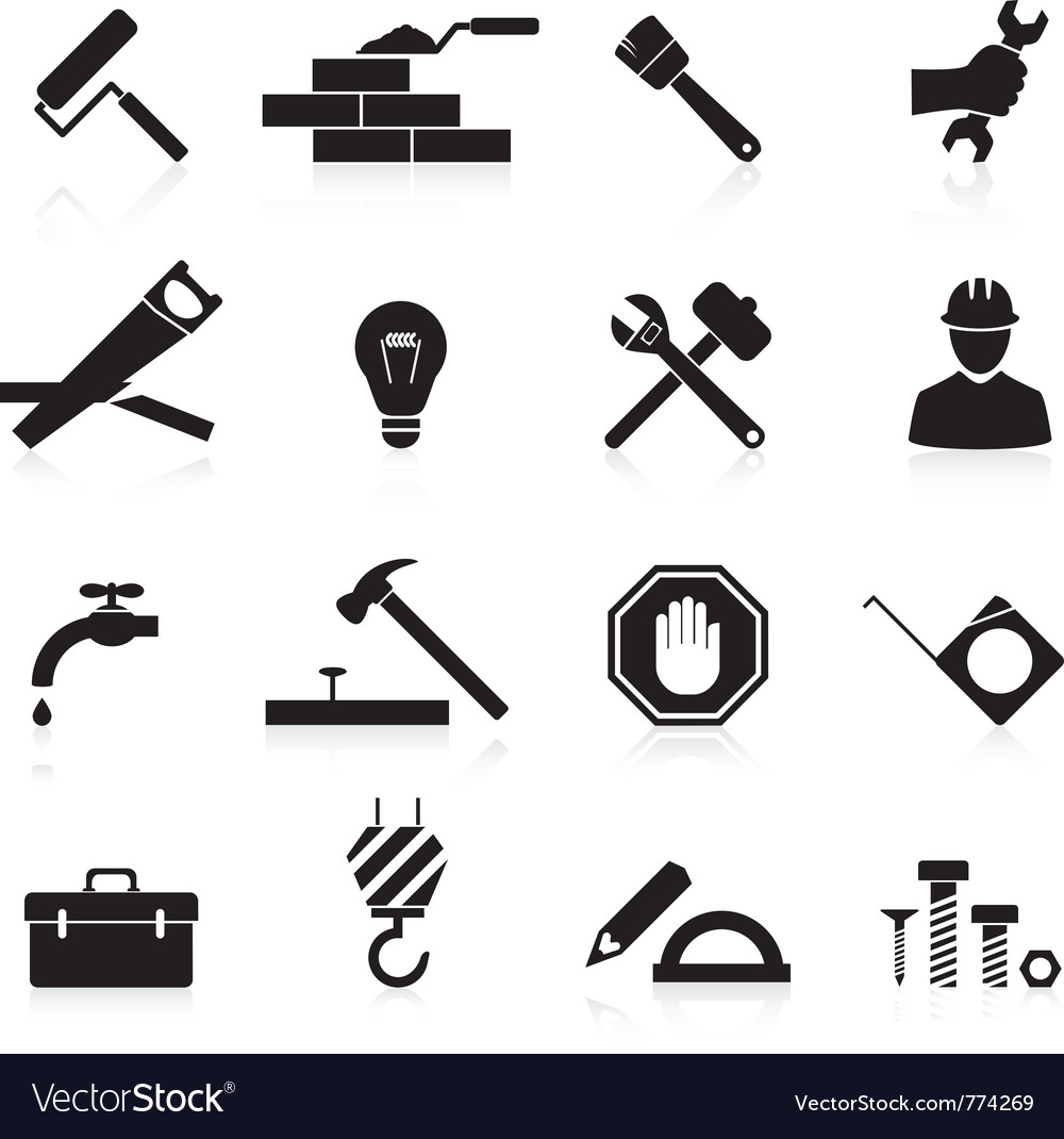 Icons construction and repair vector | Price: 1 Credit (USD $1)