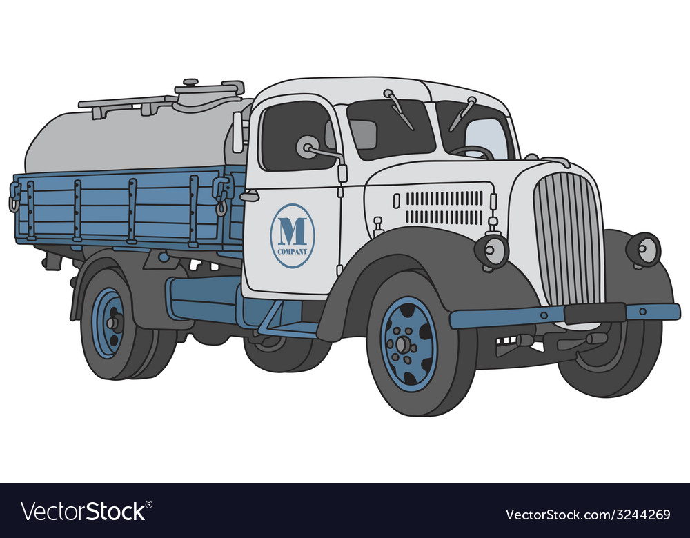 Old dairy truck vector | Price: 1 Credit (USD $1)