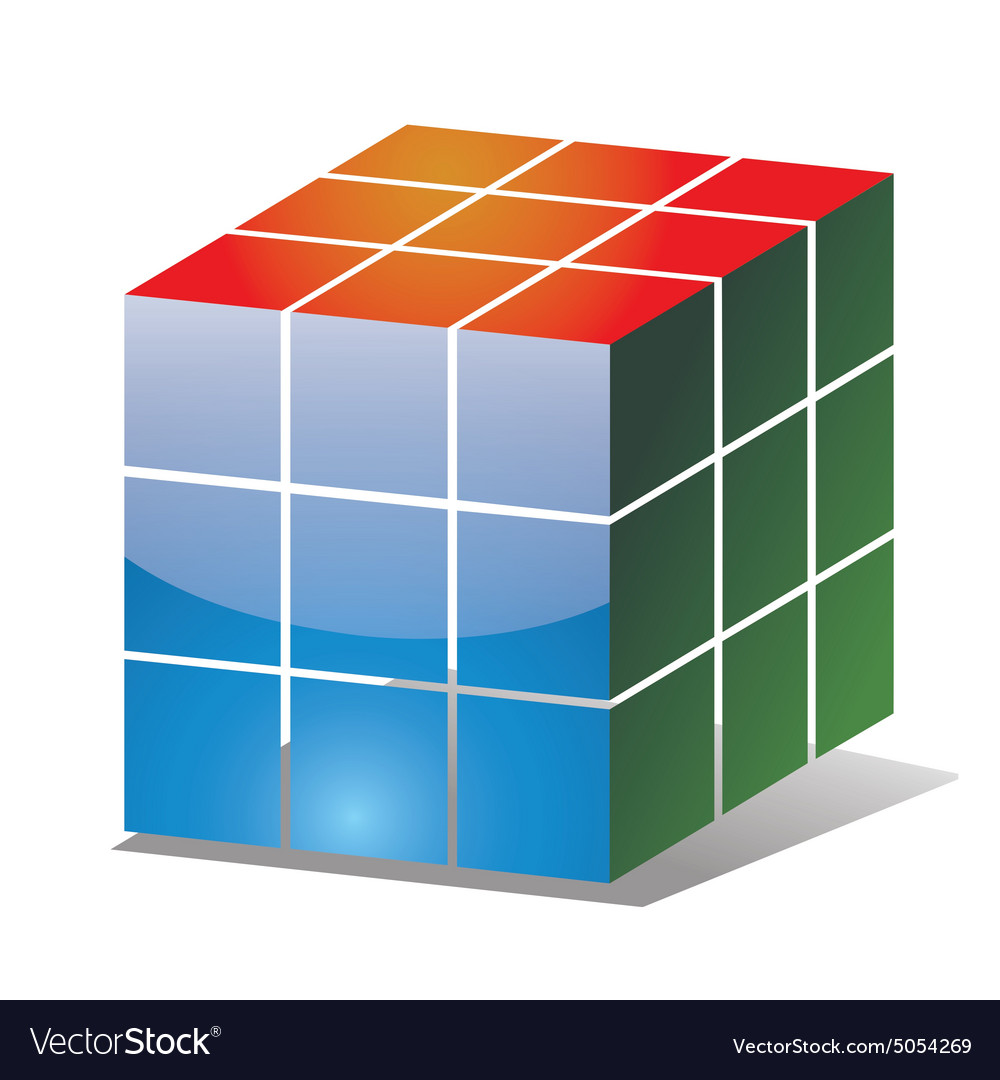 Rubik cube icon vector