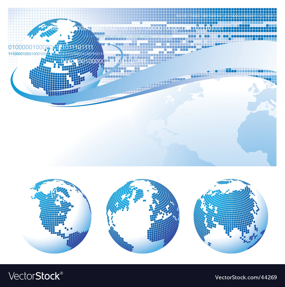 Template background with a globe vector | Price: 1 Credit (USD $1)