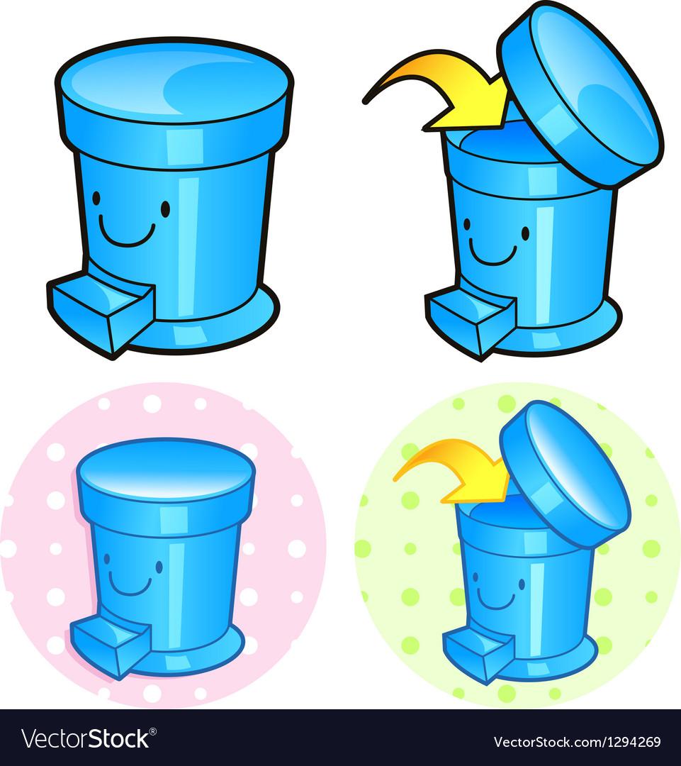 Various styles of wastebasket sets vector   Price: 1 Credit (USD $1)