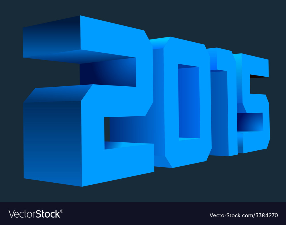 2015 3d vector | Price: 1 Credit (USD $1)