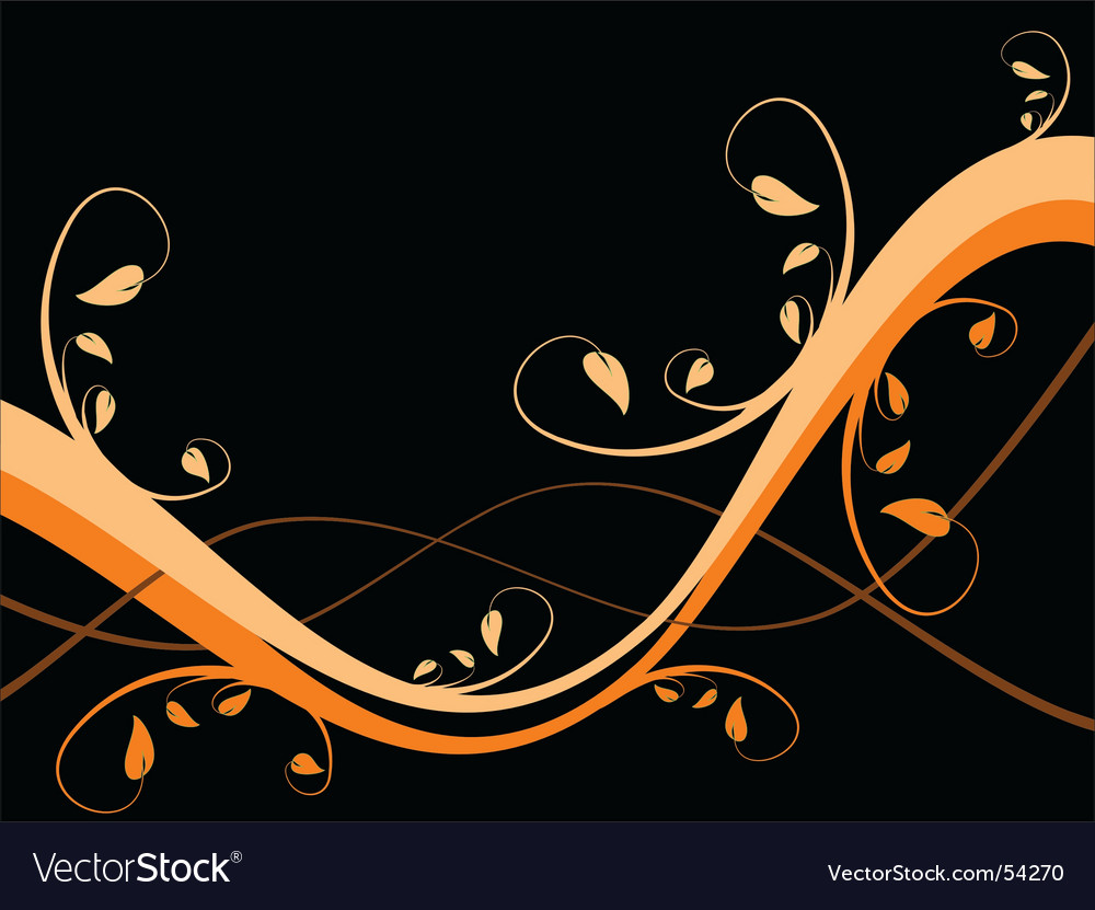 Abstract floral background vector | Price: 1 Credit (USD $1)