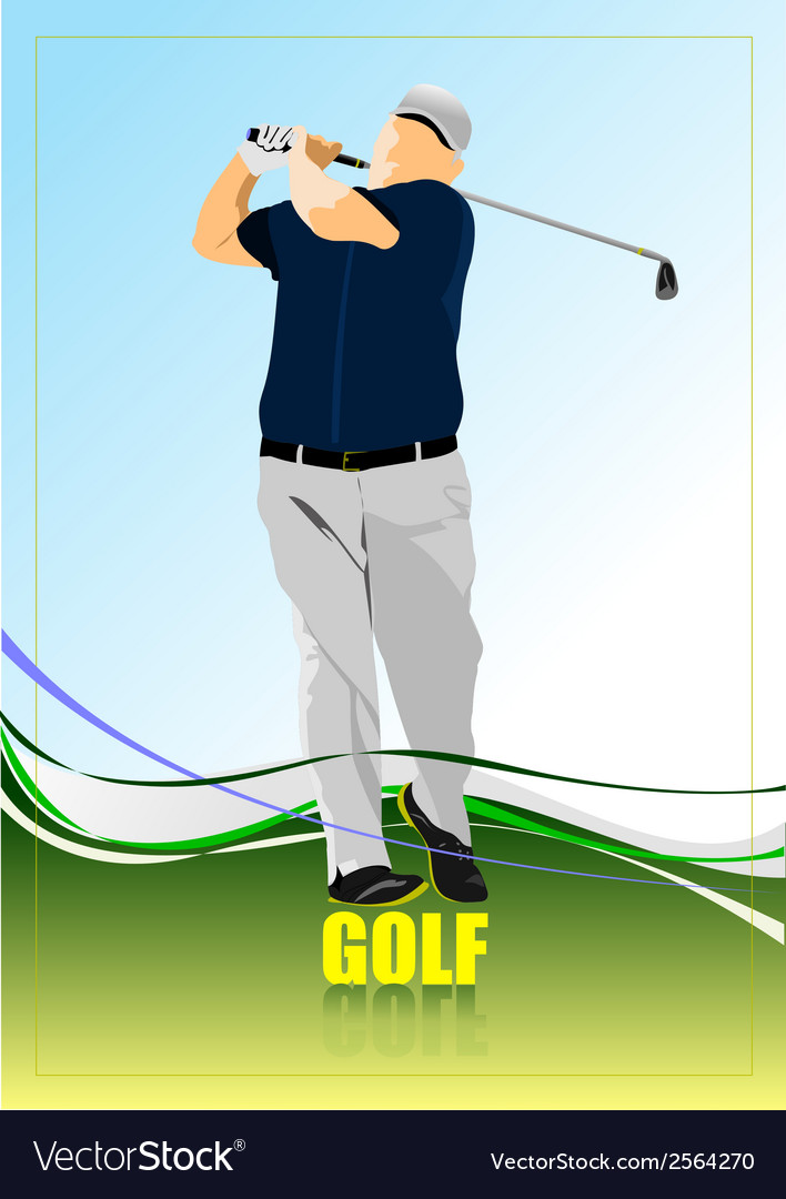 Al 0204 golfer vector | Price: 1 Credit (USD $1)