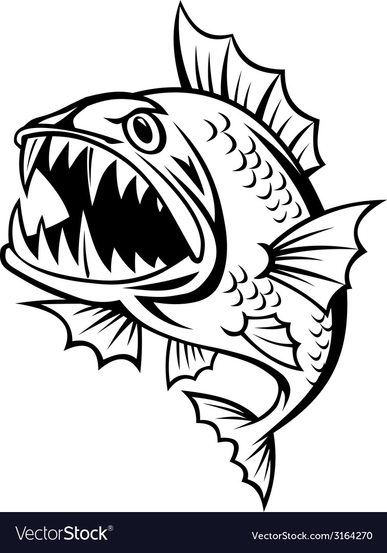 Angry fish vector | Price: 1 Credit (USD $1)