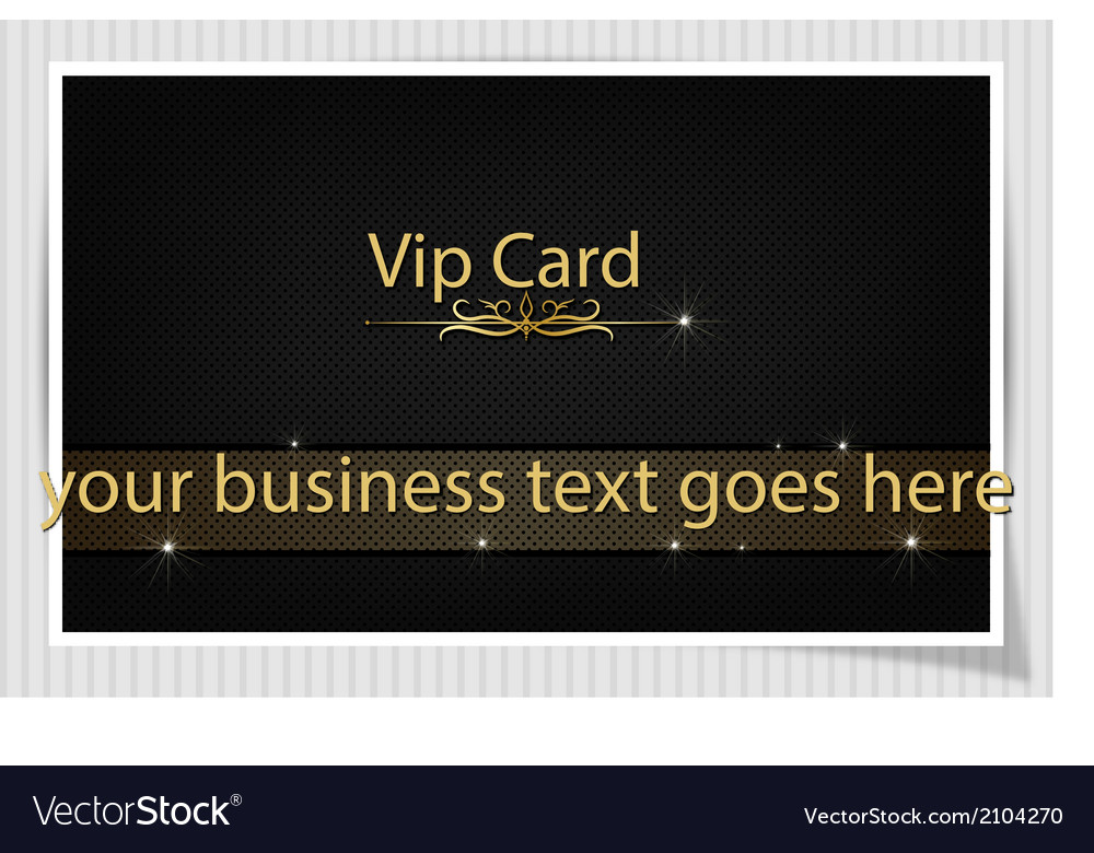 Black creative vip card vector | Price: 1 Credit (USD $1)