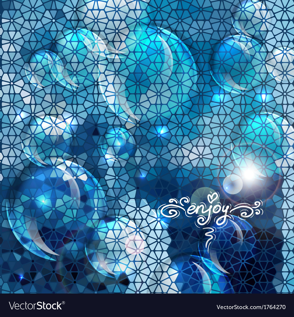 Blue abstract air bubbles background vector | Price: 1 Credit (USD $1)
