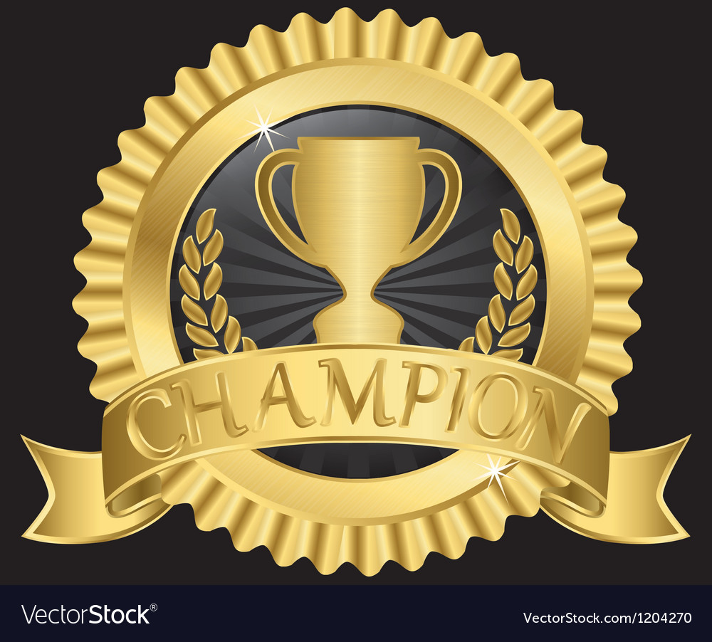Champion silk label vector | Price: 1 Credit (USD $1)