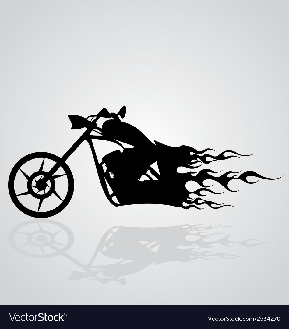 Flaming motorcycle vector | Price: 1 Credit (USD $1)