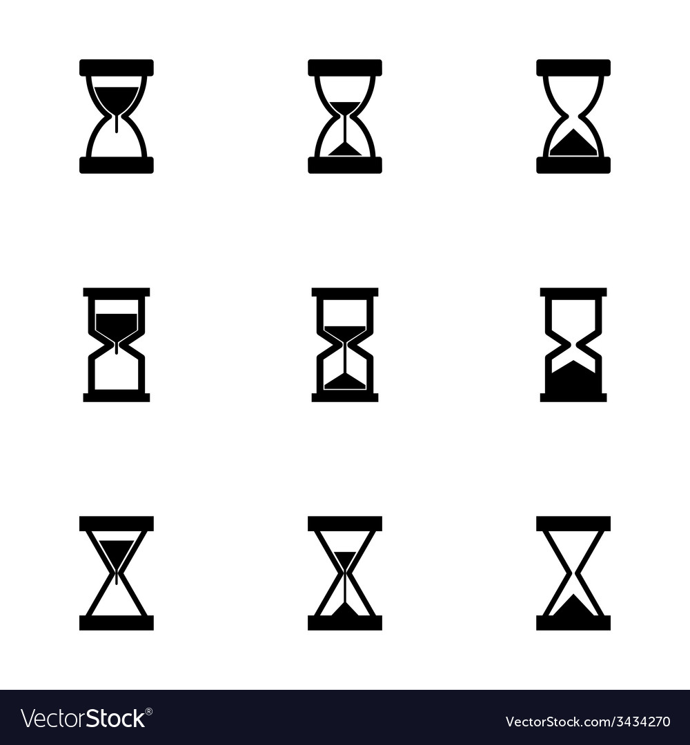 Hourglass icon set vector | Price: 1 Credit (USD $1)