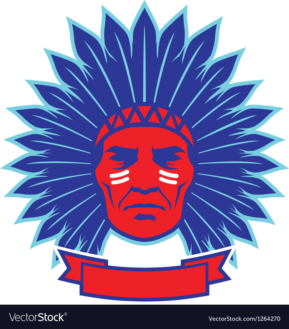 Indian chief mascot vector | Price: 3 Credit (USD $3)