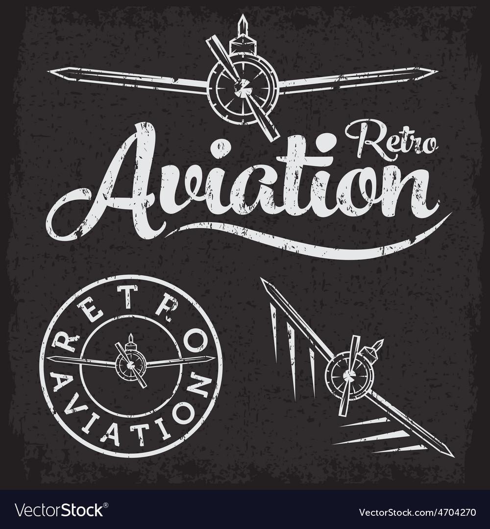 Retro grunge aviation label vector | Price: 1 Credit (USD $1)
