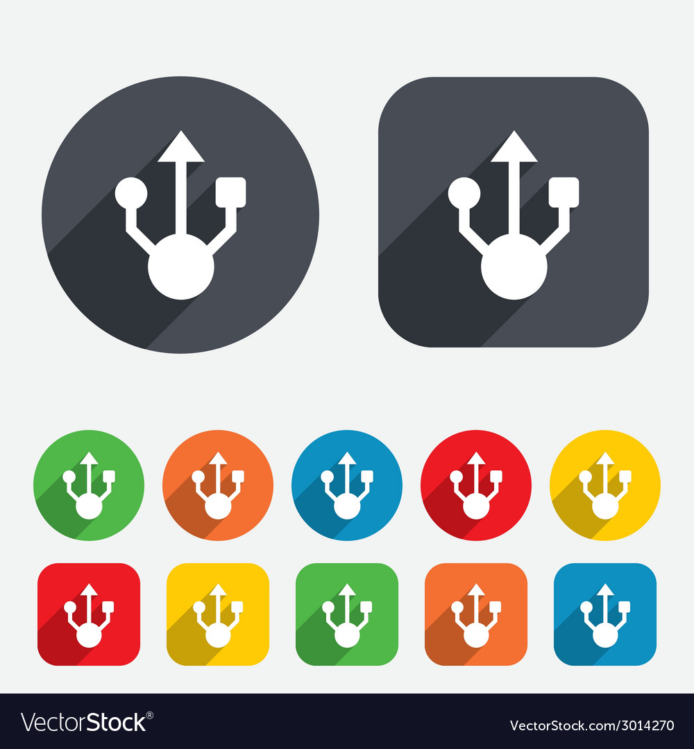 Usb sign icon usb flash drive symbol vector | Price: 1 Credit (USD $1)