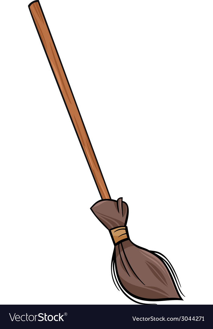 Broom clip art cartoon vector | Price: 1 Credit (USD $1)