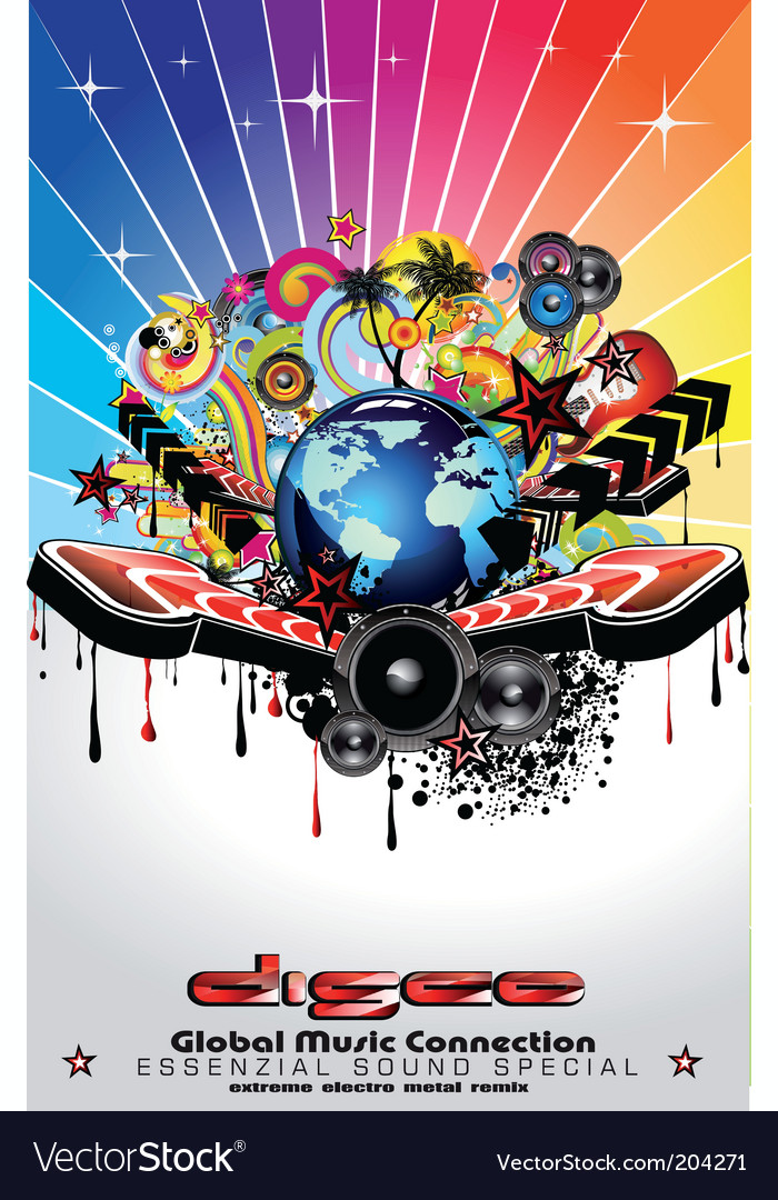 Disco flyer vector | Price: 3 Credit (USD $3)