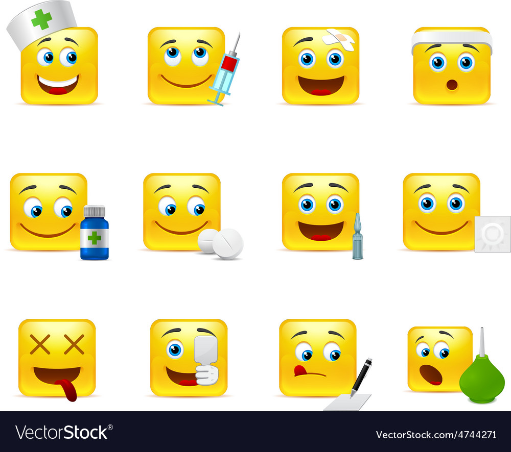 Emoticons doctor vector | Price: 1 Credit (USD $1)