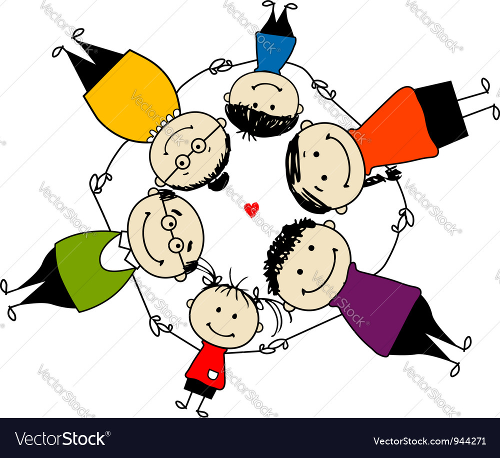 Happy family together frame for your design vector | Price: 1 Credit (USD $1)