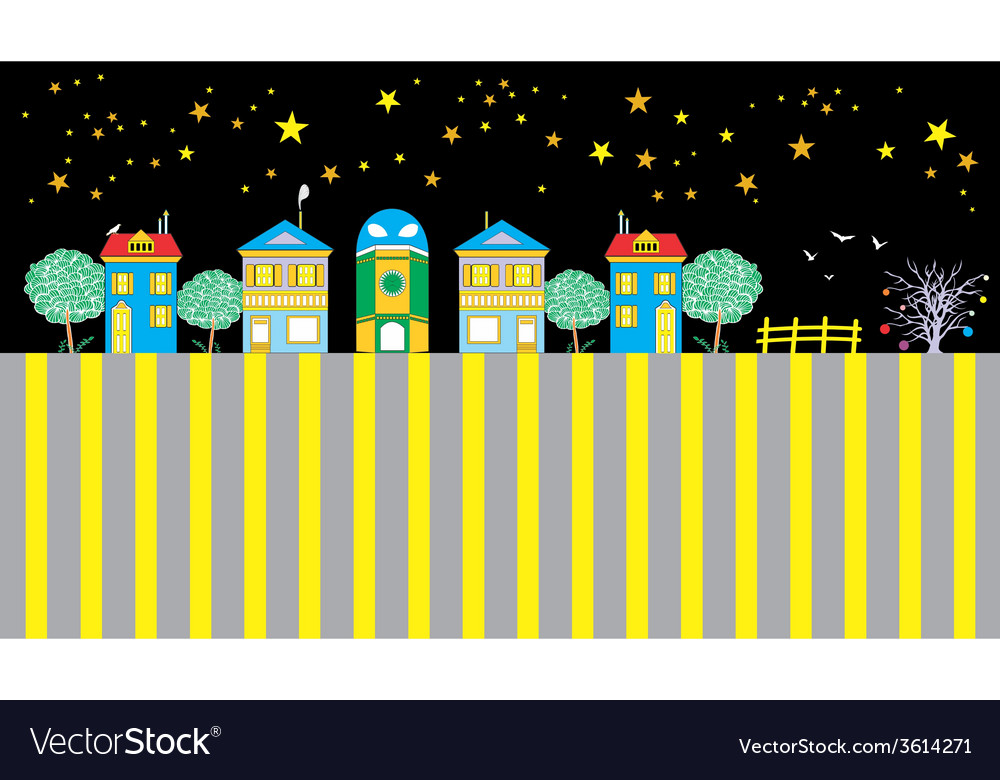 Houses of the funny town vector   Price: 1 Credit (USD $1)