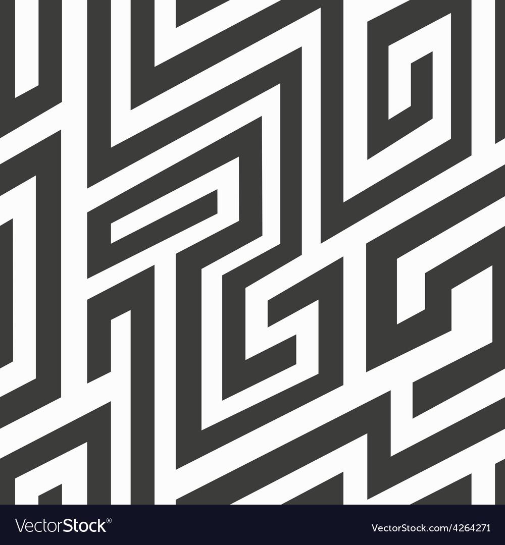 Monochrome spiral seamless pattern vector | Price: 1 Credit (USD $1)