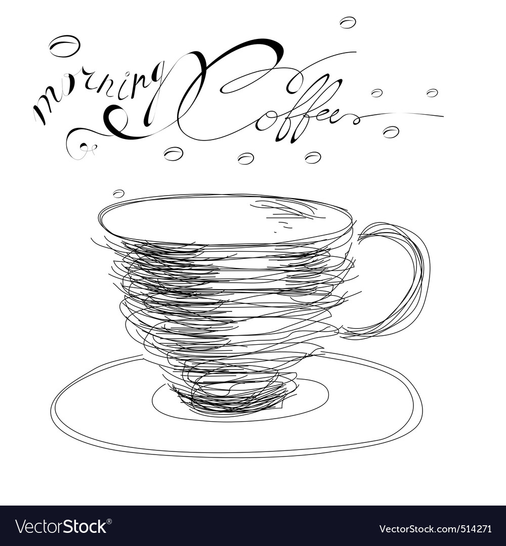 Morning coffee vector | Price: 1 Credit (USD $1)