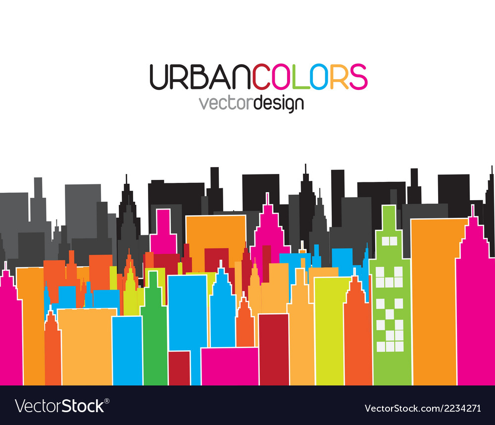 Urban colors vector | Price: 1 Credit (USD $1)