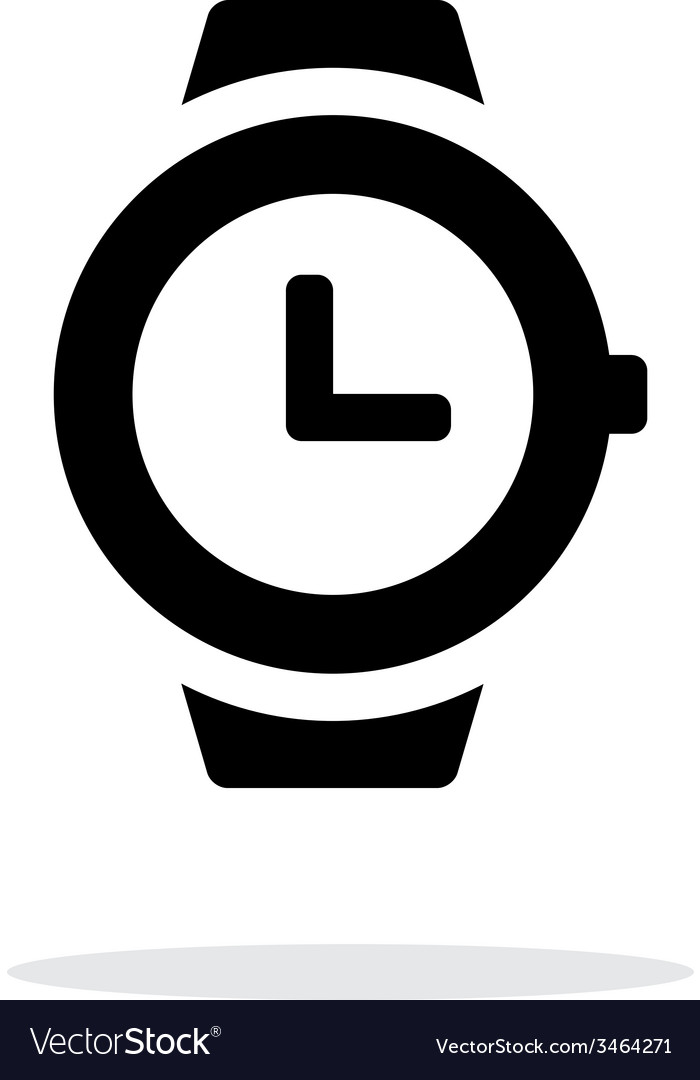 Wristwatch icon on white background vector | Price: 1 Credit (USD $1)