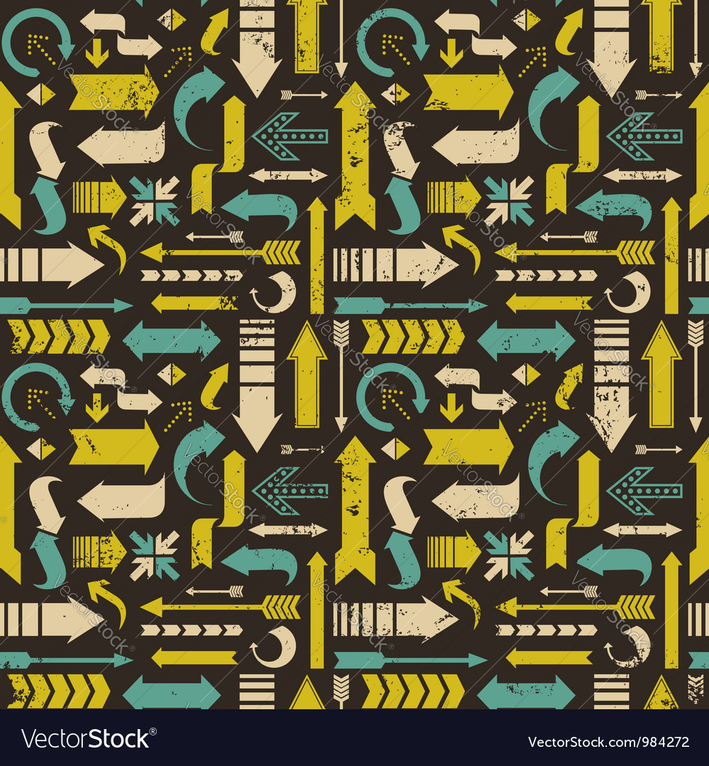 Arrows seamless pattern vector | Price: 1 Credit (USD $1)