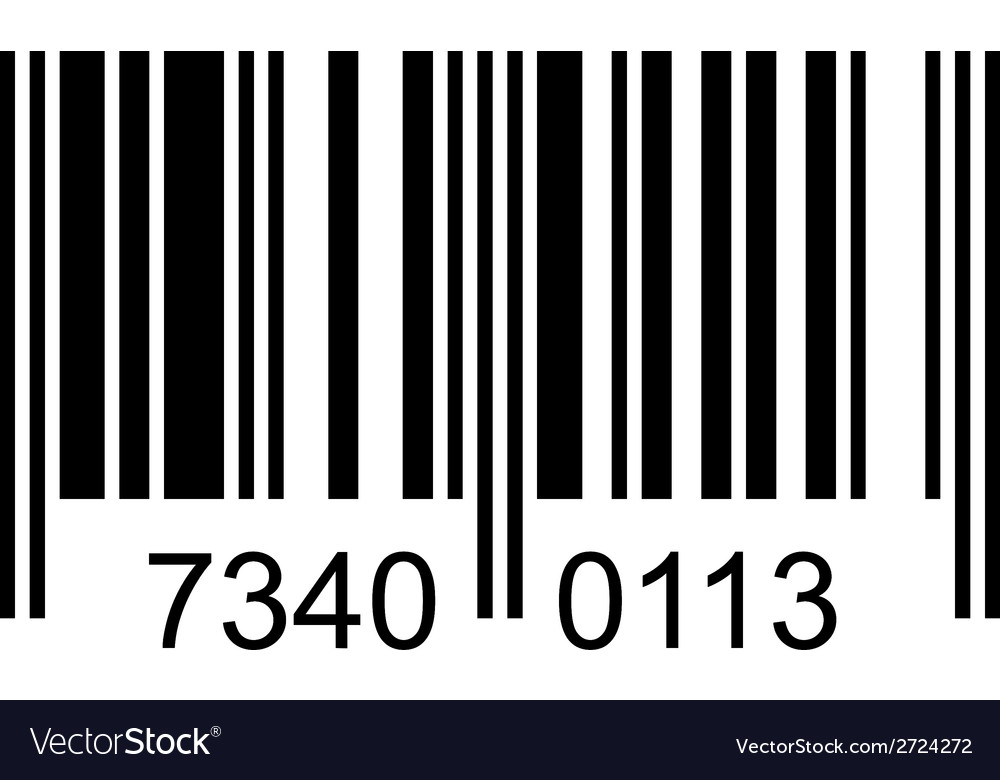 Bar code with fake numbers vector | Price: 1 Credit (USD $1)
