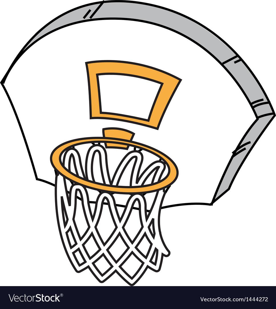 Basketball hoop vector | Price: 1 Credit (USD $1)