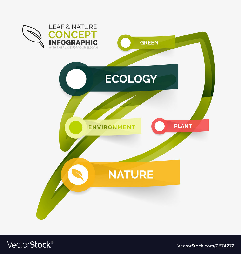 Eco leaf infographic concept vector | Price: 1 Credit (USD $1)