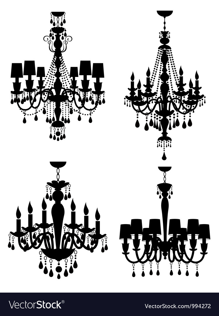 French chandeliers vector | Price: 1 Credit (USD $1)