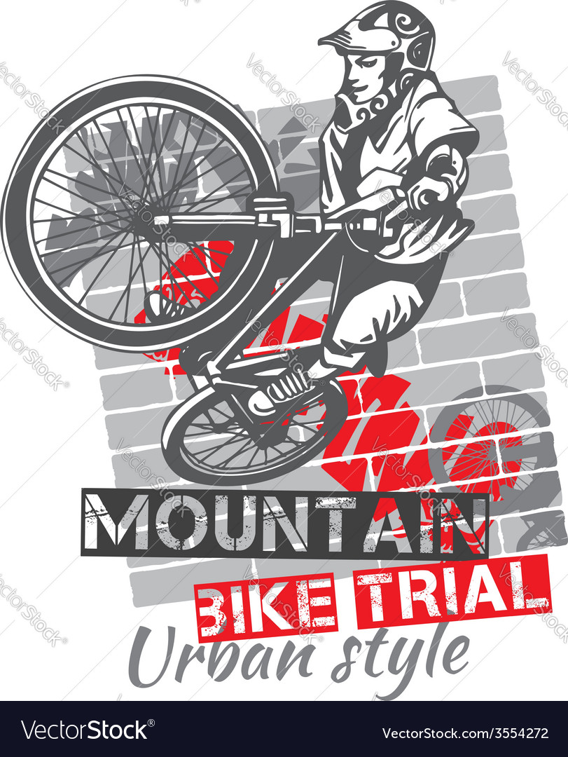 Mountain bike trial  design vector