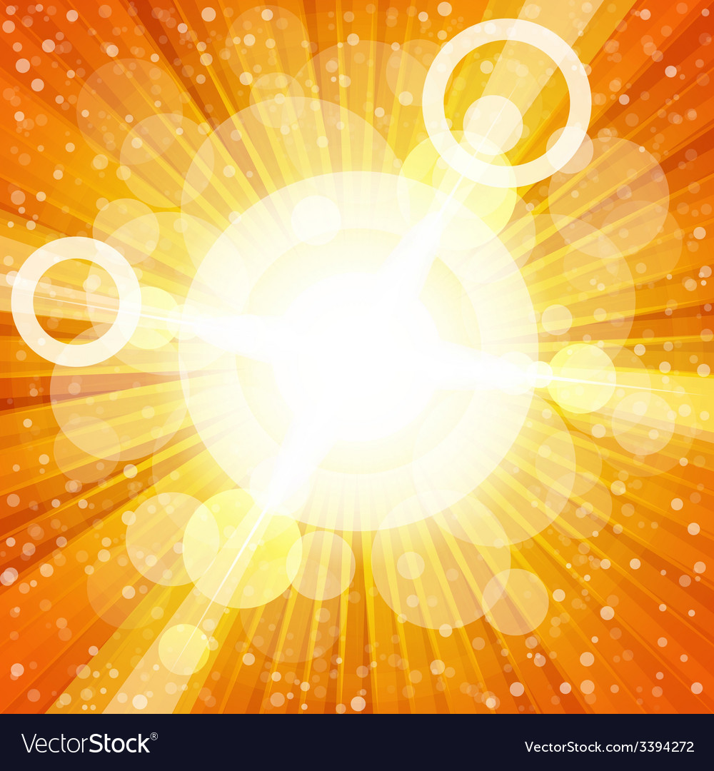 Yellow and orange colorful burst of light with vector | Price: 1 Credit (USD $1)
