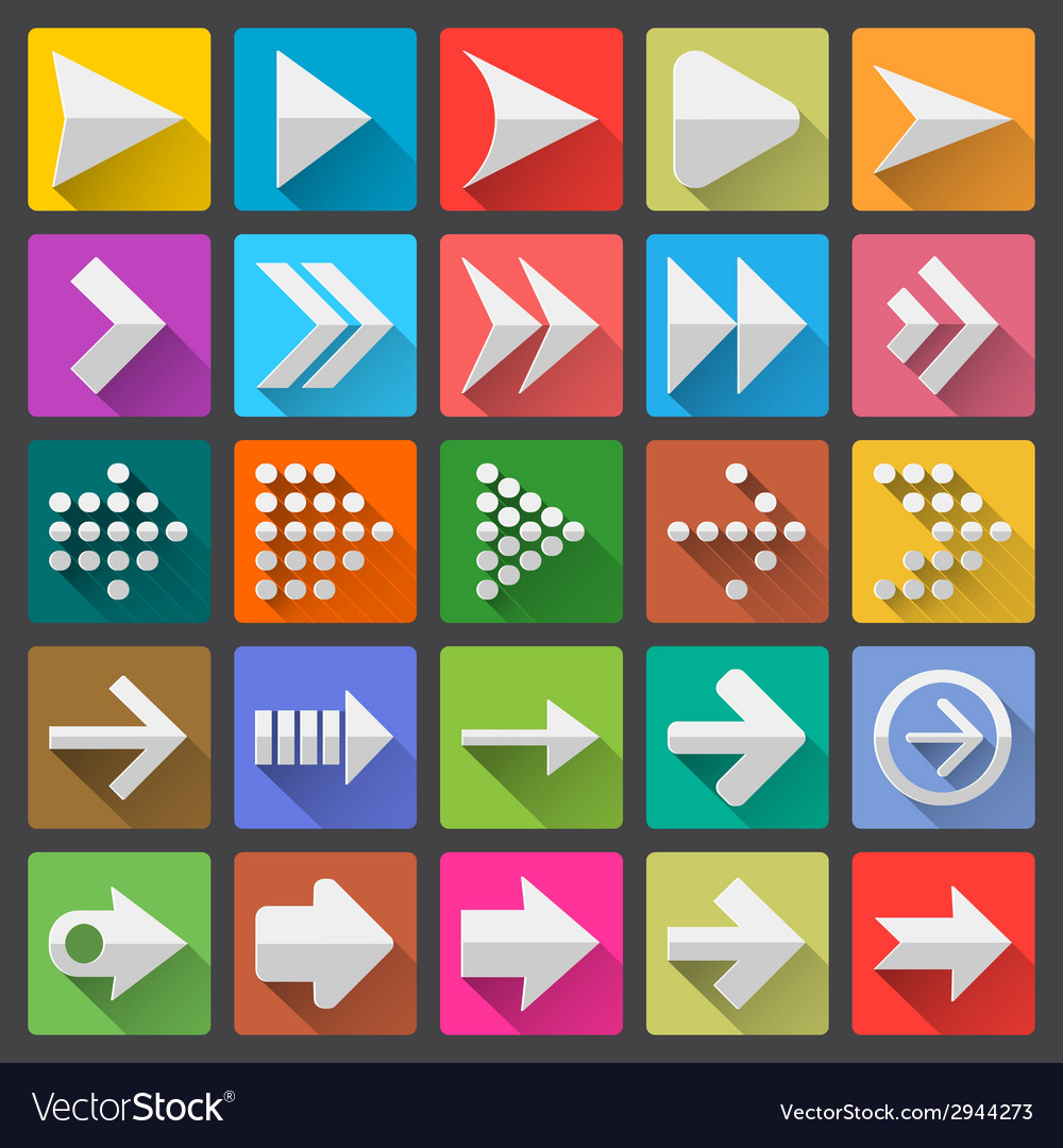 25 arrow icon set vector | Price: 1 Credit (USD $1)
