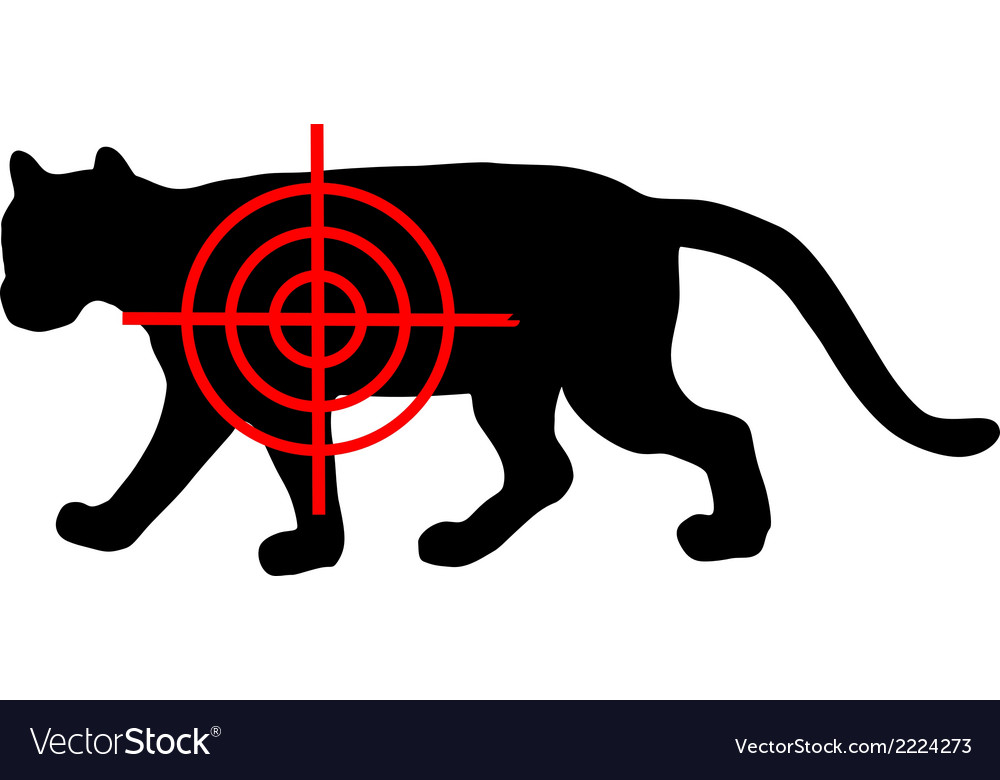Cougar crosslines vector | Price: 1 Credit (USD $1)