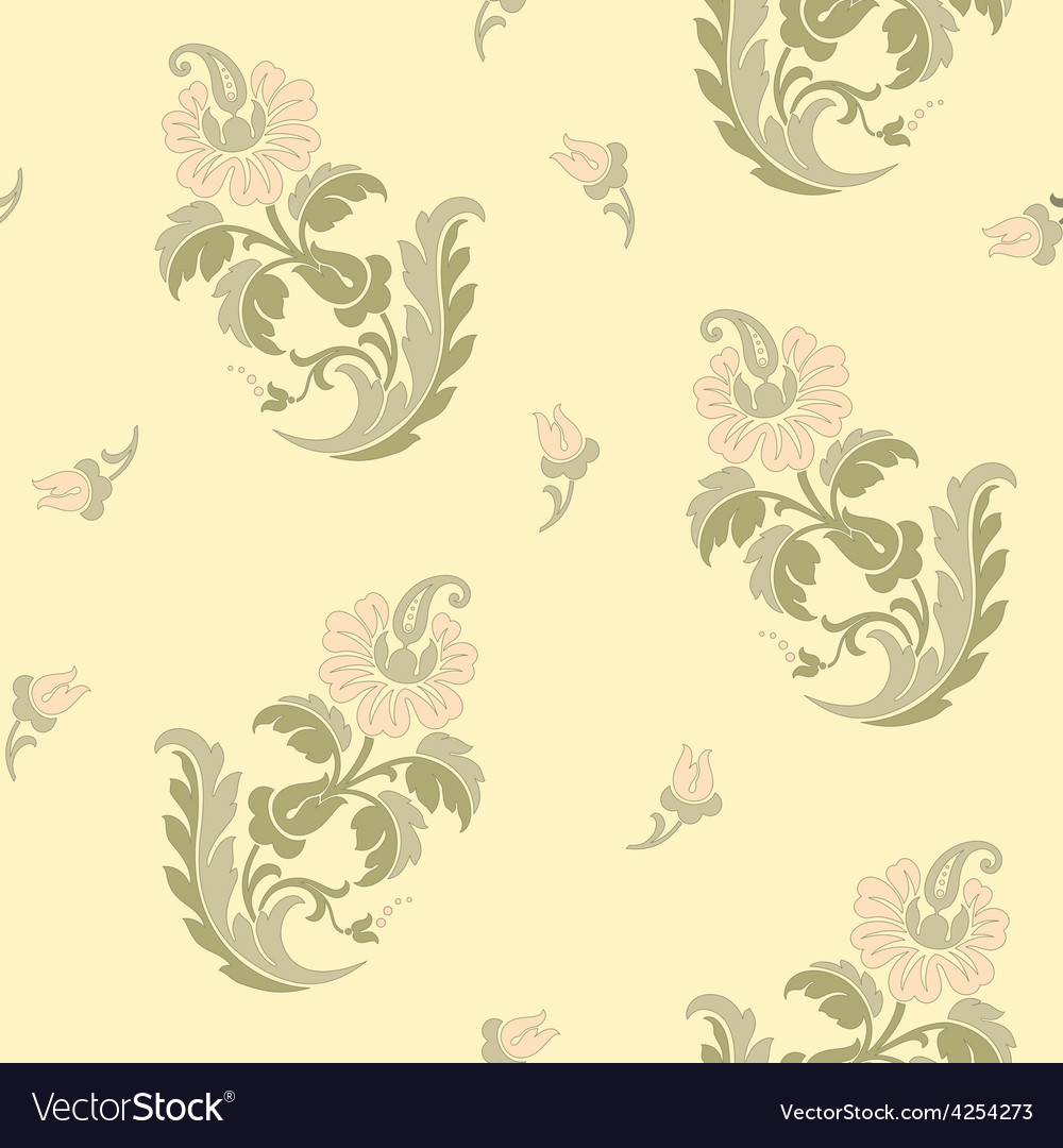 Decorative flowers in east style vector | Price: 1 Credit (USD $1)