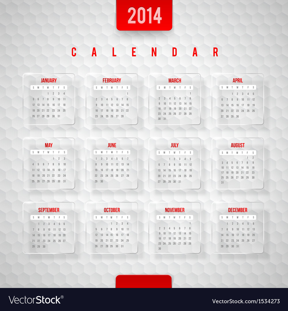 Design template - calendar of 2014 vector | Price: 1 Credit (USD $1)