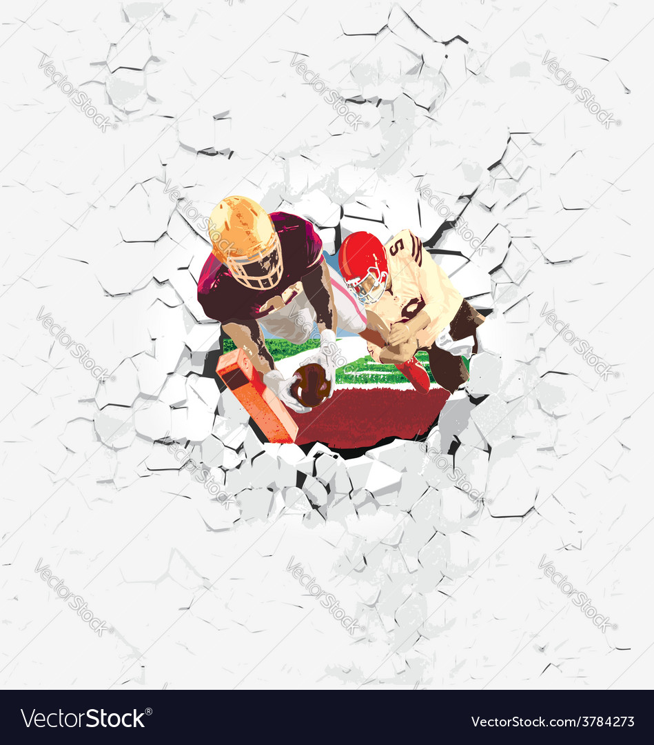 Football player touchdown vector | Price: 3 Credit (USD $3)