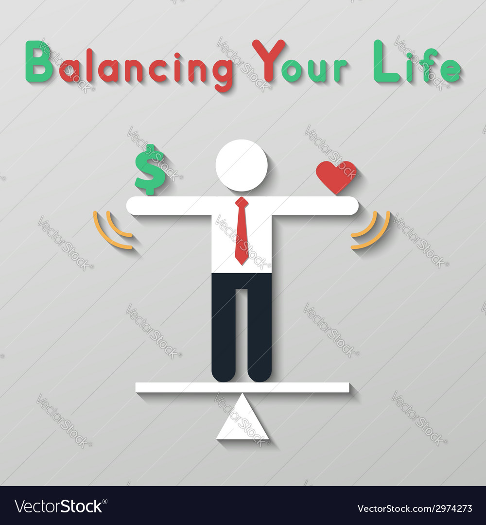 Idea balance your life business concept vector | Price: 1 Credit (USD $1)