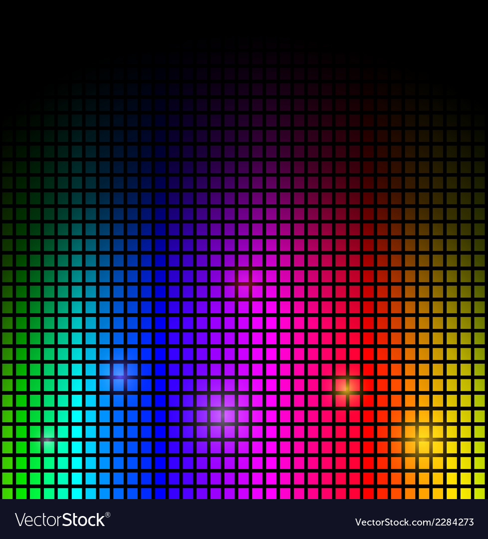 Modern abstract background colorful lights on blac vector | Price: 1 Credit (USD $1)