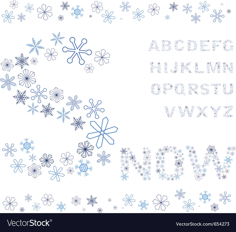 Snowflakes alphabet vector | Price: 1 Credit (USD $1)