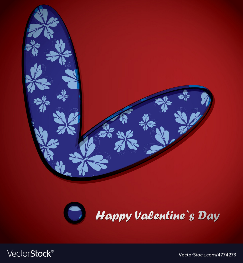 Valentine day heart with butterflies vector | Price: 1 Credit (USD $1)