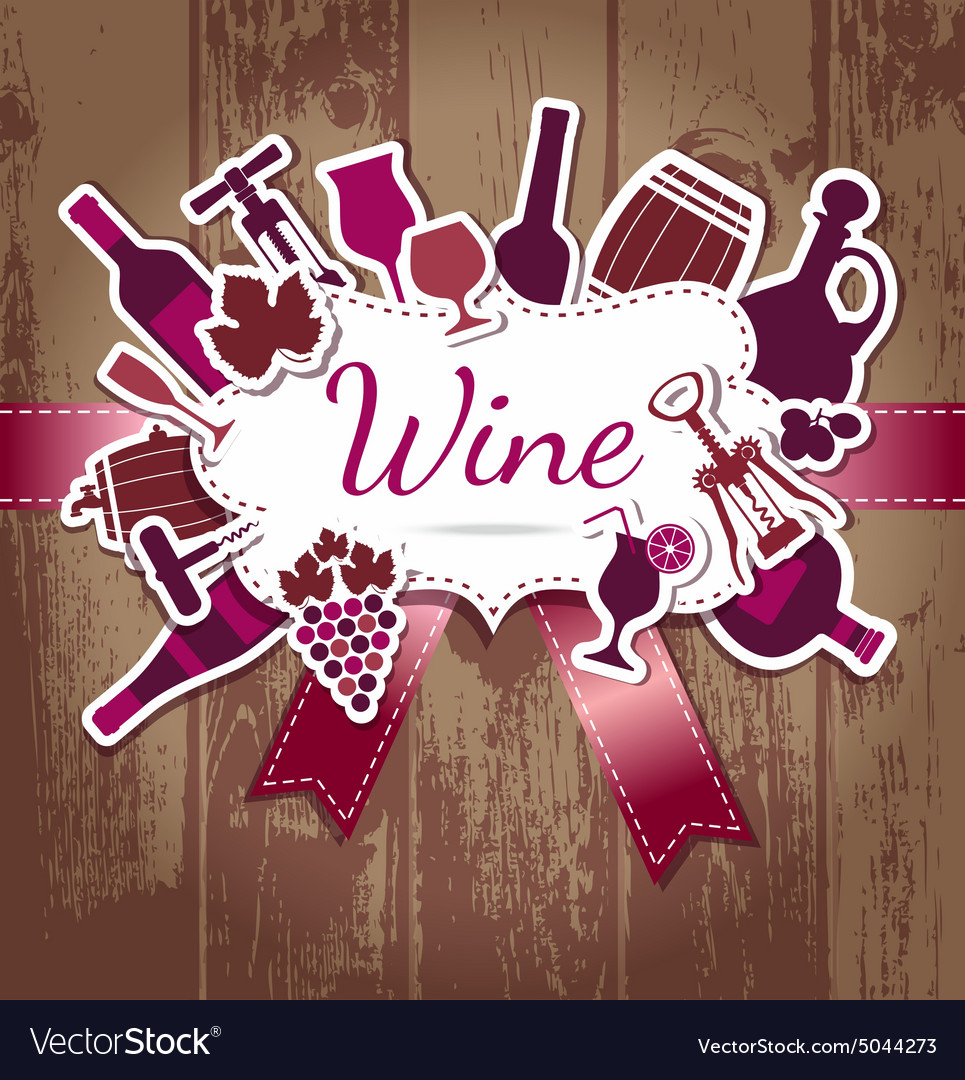 Wine kitchen vector