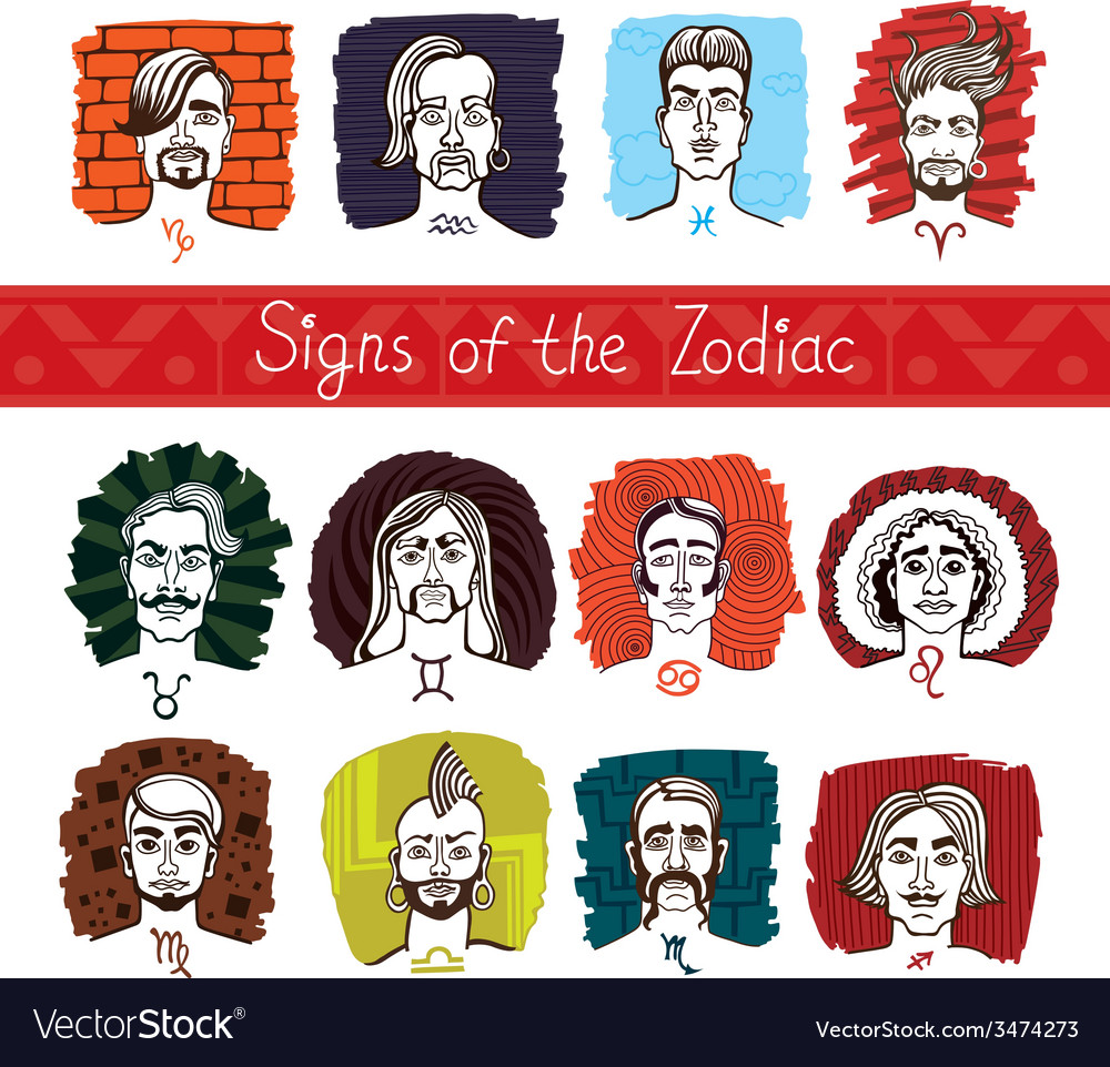 The zodiac in persons vector   Price: 1 Credit (USD $1)