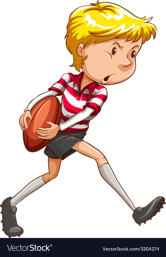 A simple sketch of a rugby player vector | Price: 1 Credit (USD $1)