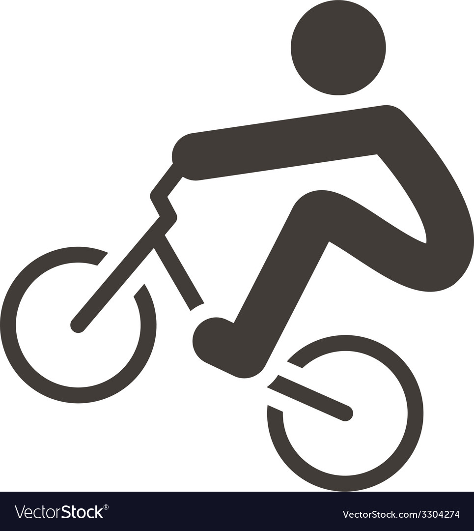 Cycling bmx icon vector | Price: 1 Credit (USD $1)
