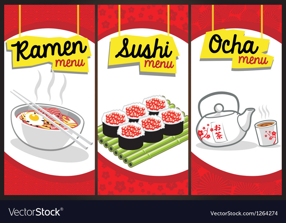 Japanese food menu vector | Price: 3 Credit (USD $3)