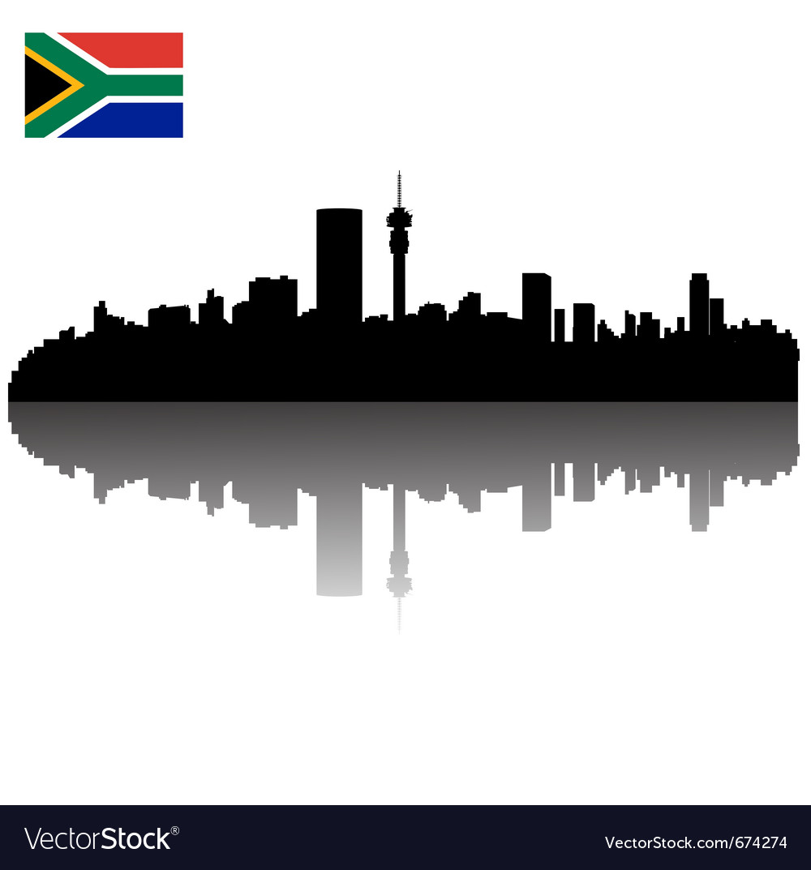 Johannesburg silhouette skyline vector | Price: 1 Credit (USD $1)