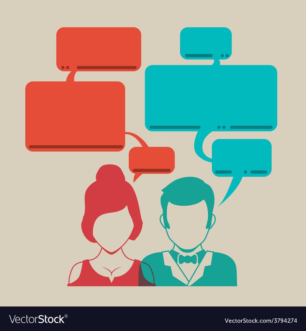 Speech bubbles communication vector | Price: 1 Credit (USD $1)