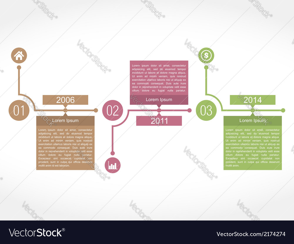 Timeline vector | Price: 1 Credit (USD $1)